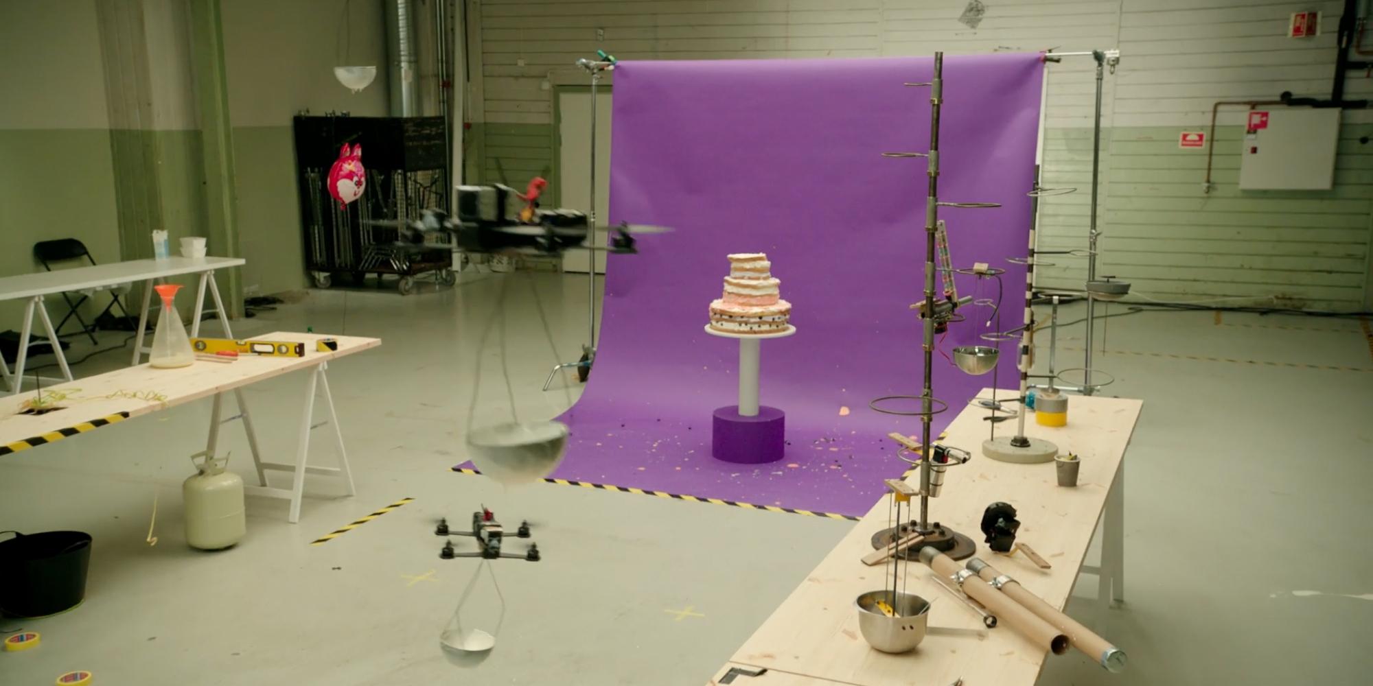 Telia Drones and cake